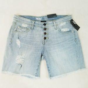 Mossimo Boyfriend Distressed Shorts -Size 4 - NWT